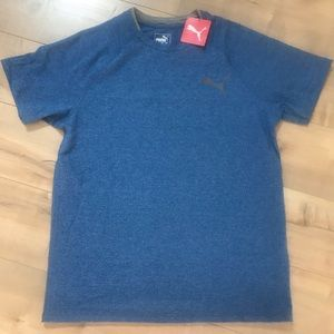 Puma Finishline Tee Galaxy Blue NWT Sz M